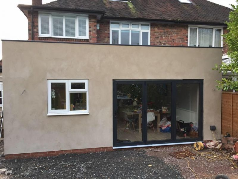 Rear of House After. House Extension Tamworth: Swipe To View More Images