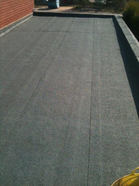 Flat Felt Roof Tamworth. Torch on Modified Bitumen roofing: Swipe To View More Images